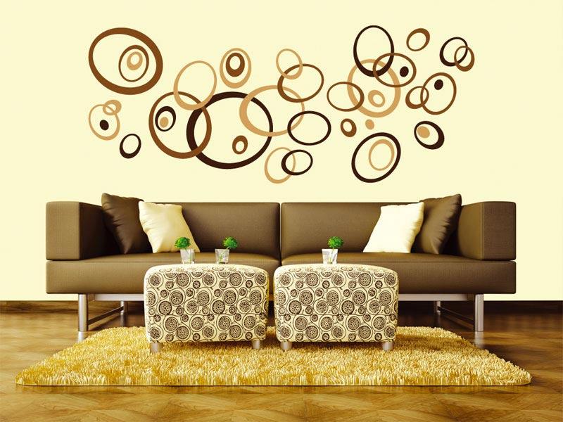 samolepicí dekorace nazeď hnědé ovály